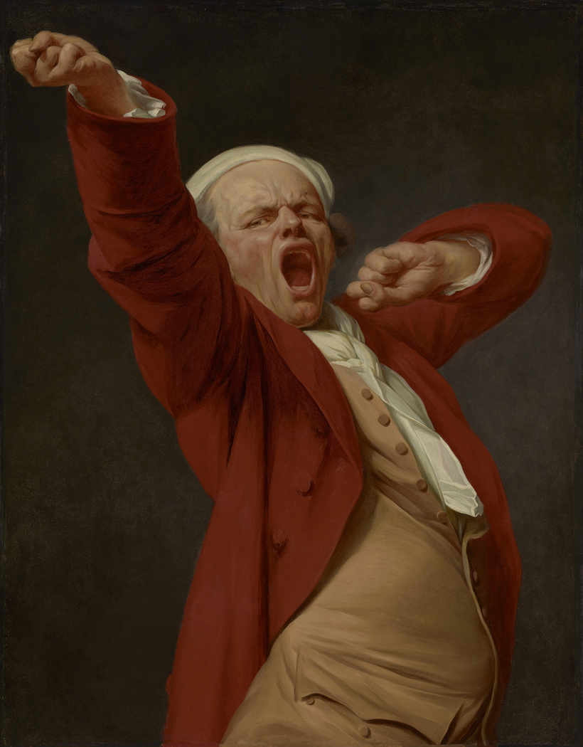 Self-Portrait, Yawning
