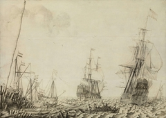 Ships near a Harbor