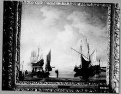 Ships near the Coast at Low Tide