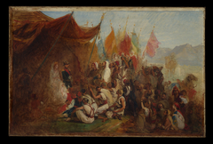 "Sketch for ""Reception of Emperor Napoleon III and Empress Eugénie by the Kabyle Leaders at Algiers on September 18, 1860"""