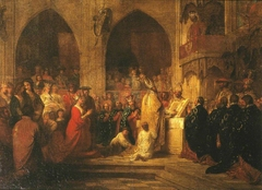 Sketch for 'The Installation of the Order of the Garter'