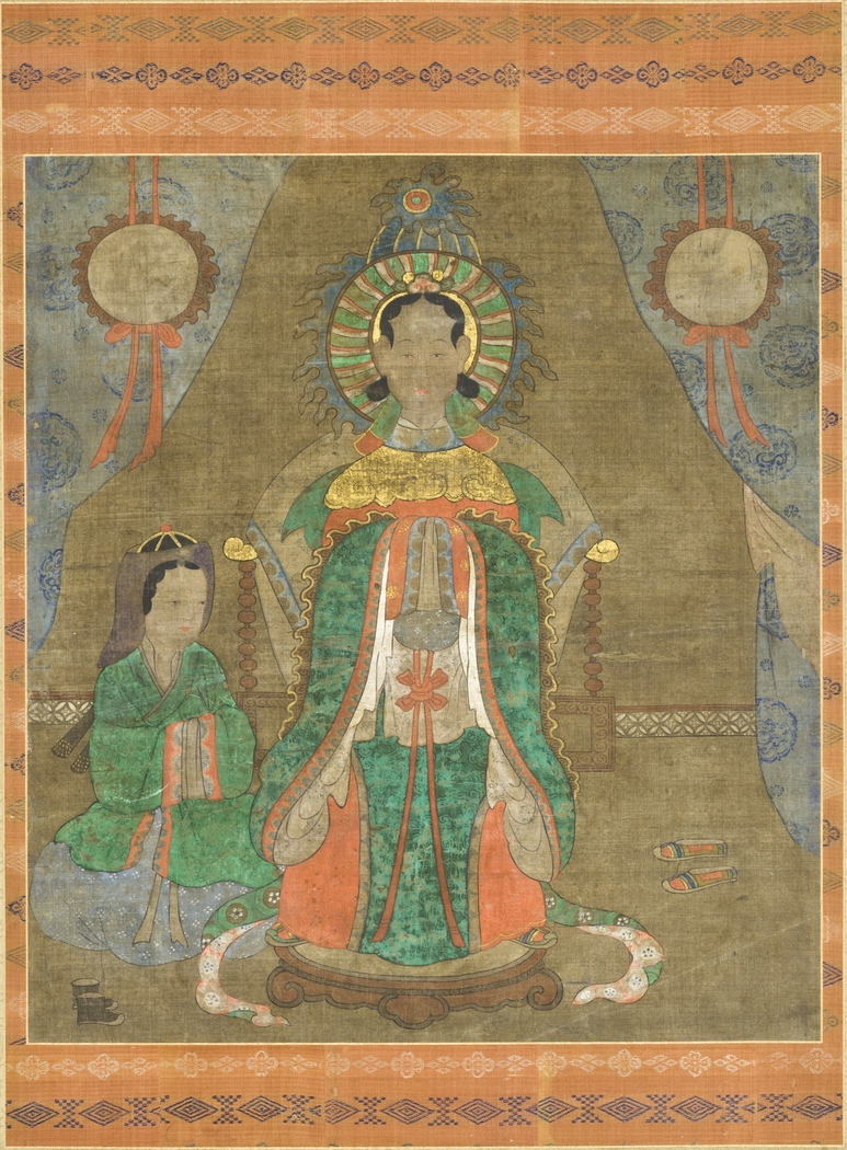 Spirit of a Noble Woman (Probably Princess Pari) and Attendant