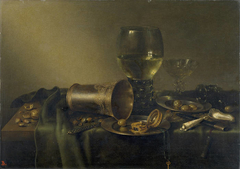 Still Life with Silver Tazza, Roemer and Oysters