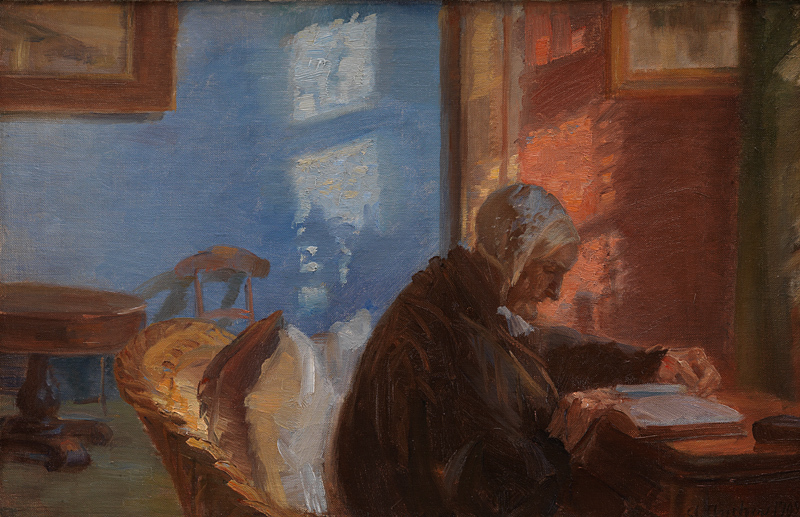 Kunstnerens mor Ane Hedvig Brøndum i den blå stuetitle translated (The Artist's Mother Ane Hedvig Brøndum in the Blue Room)
