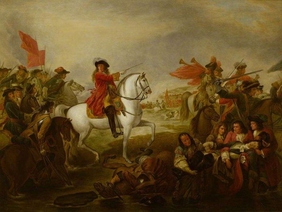 The Death of Frederick, 1st Duke of Schomberg (1615-1690) at the Battle of the Boyne, 1st July 1690