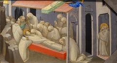 The Death of Saint Benedict: Predella Panel