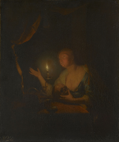 The Penitent Magdalen by Candlelight