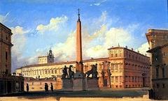 The Piazza di Monte Cavallo