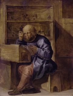 The proofreader Cornelis Kiliaan at work