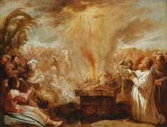 The Sacrifice of Elijah Before the Priests of Baal