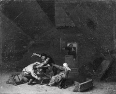 Two Peasants Fighting with Knives
