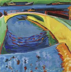 Brücke an der Priessnitzmündung
