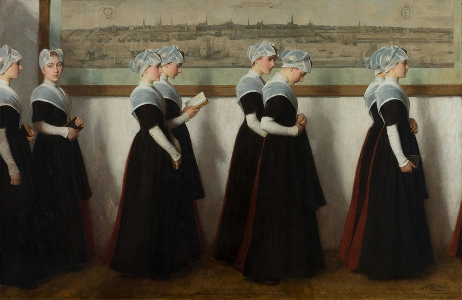 Girls at Amsterdam's Civic Orphanage