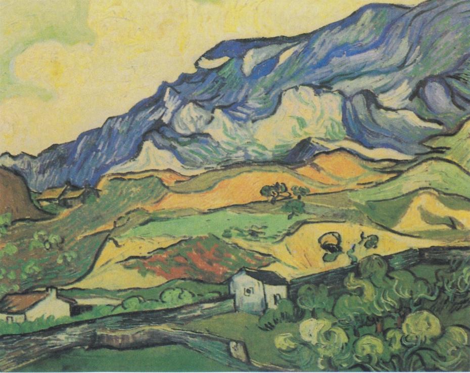 """""""Les Alpilles"""", mountain-landscape at Saint-Rémy"""