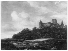 View of Bentheim Castle with grain field below