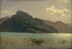 View of Lake Lucerne opposite Brunnen