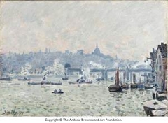 View of the Thames: Charing Cross Bridge