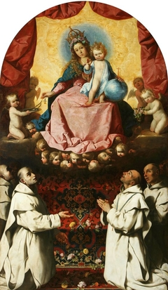 Virgin of the Rosary with Two Carthusians