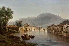Vue de Grenoble, prise de l'Ile verte, effet du soir