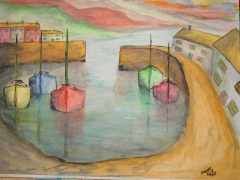 Water Colour Boats 2