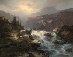 Waterval van de Handeck aan de Grimsel