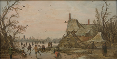 Winter Scene at a Farm