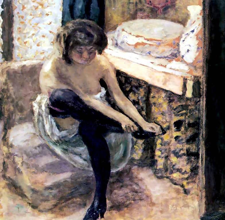 Woman in Black Stockings
