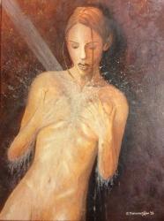 Woman in shower
