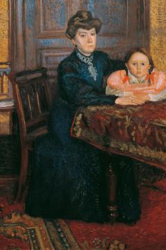 Woman with Child (Mathilde Schönberg with Daughter Gertrud)