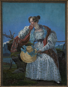 Young Woman Sitting in a Norwegian Landscape