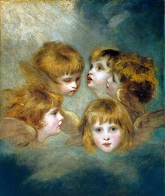A Child's Portrait in Different Views: 'Angel's Heads'