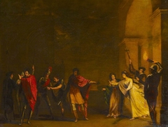 A Council Chamber (The Night Brawl with Cassio and Rodrigo/disturbing of Othello and Desdemona from William Shakespeare's 'Othello', Act II, sc. iii)