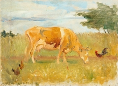 A cow in the meadow