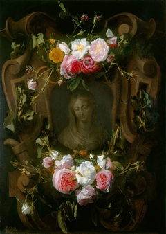 A Relief Embellished with a Garland of Roses