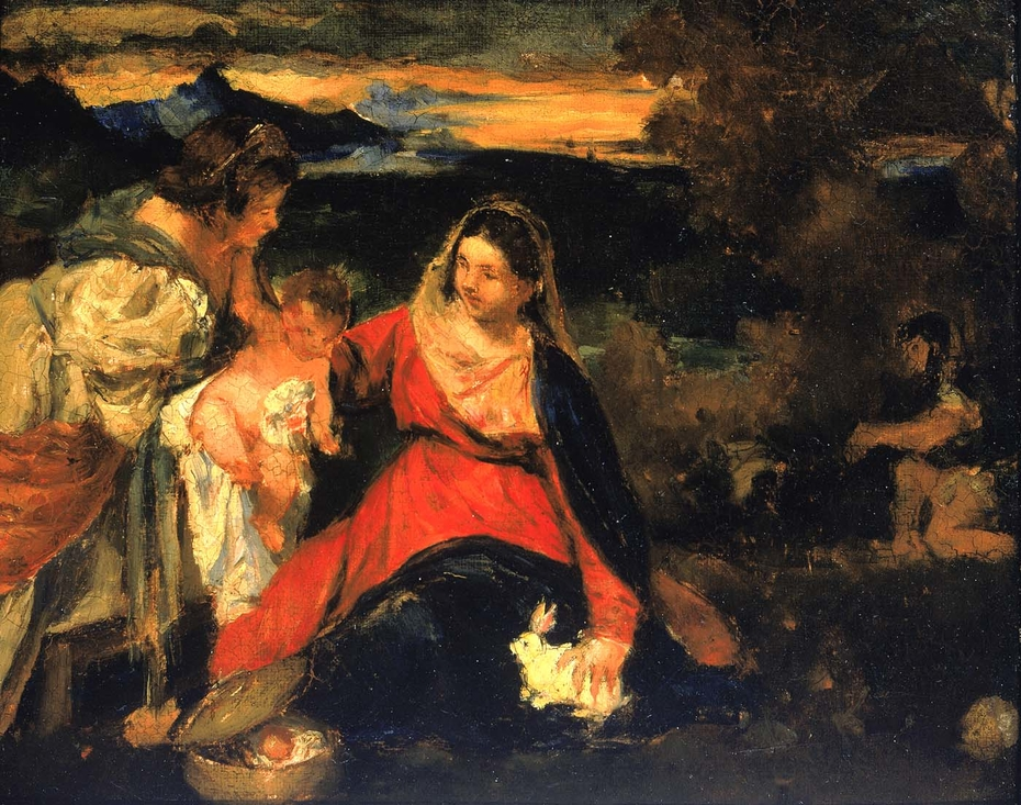 """After Titian's """"Madonna of the Rabbit"""""""