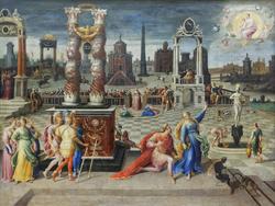 Augustus and Sibyl of Tibur, by Antoine Caron