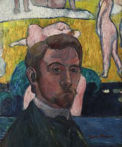 Autoportrait au tableau « Baigneuses à la vache rouge »