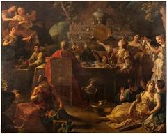 Banquete de Telémaco y Mentor