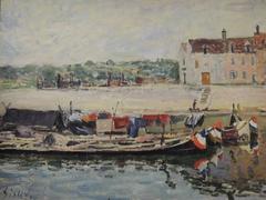 Barges at Saint Mammès