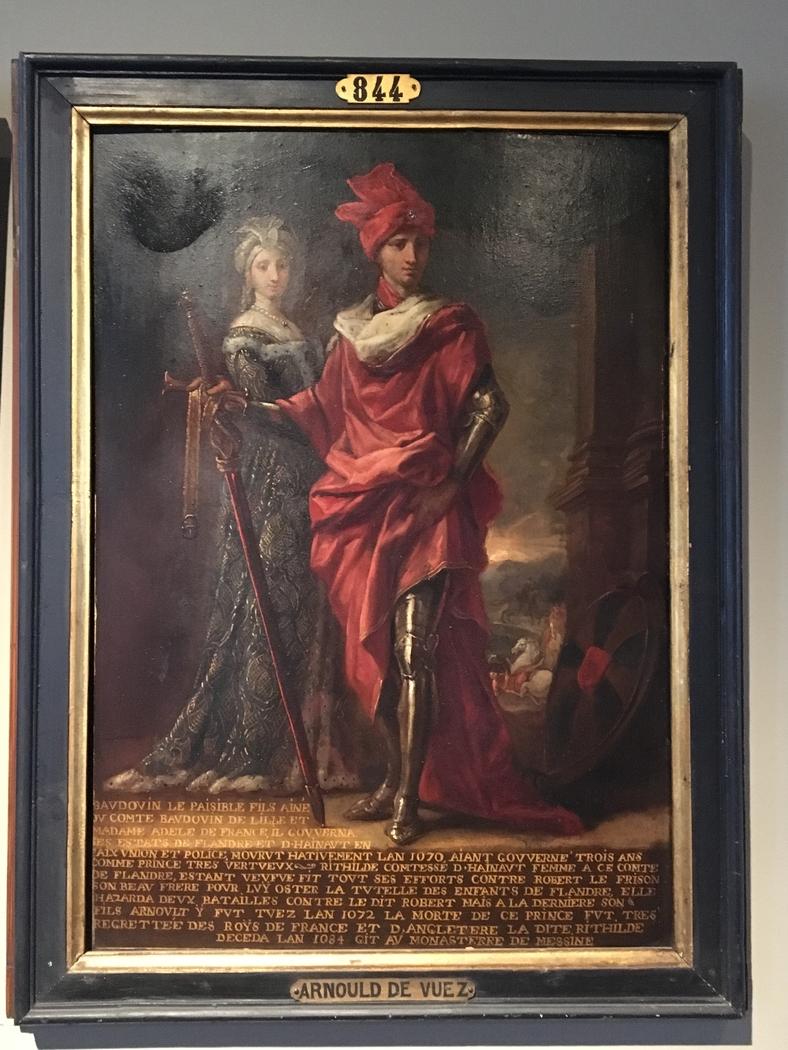 Baudouin VI Le Paisible et Richilde de Hainaut