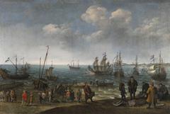 Beach with Fishermen