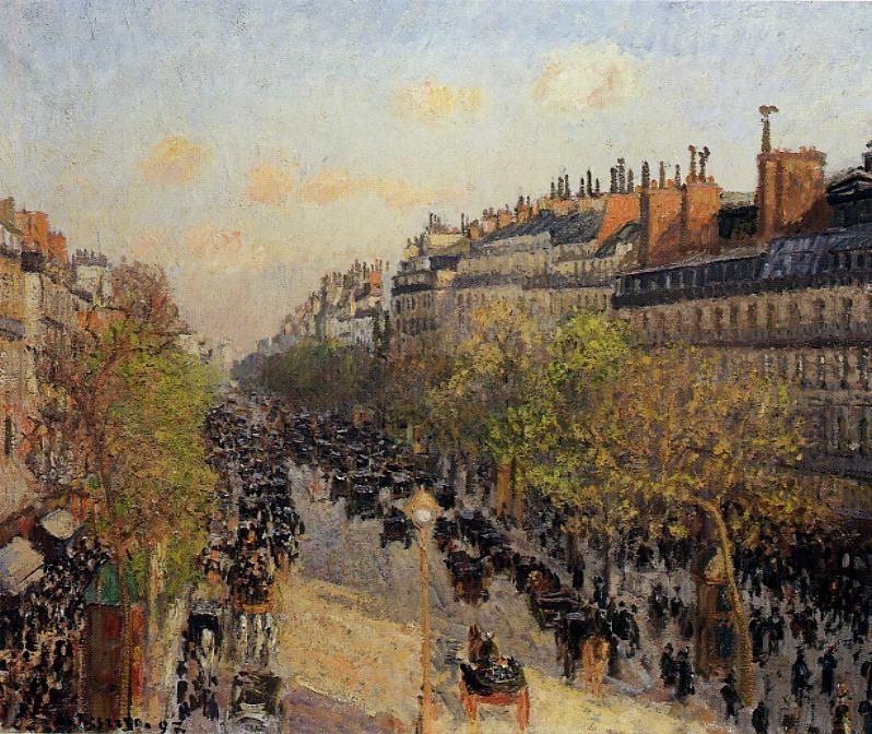 Boulevard Montmartre, Sunset - Le Boulevard Montmartre, Coucher du Soleil