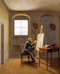 Caspar David Friedrich in his Studio (1819)