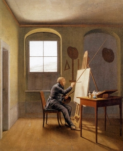 Caspar David Friedrich in his Studio (1819)