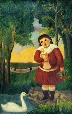 Child with a Doll in a Landscape
