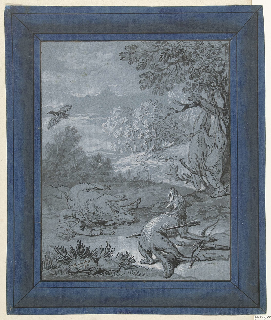 De wolf en de jager / Le Loup et le Chasseur