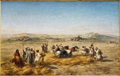Dépiquage des blés en Algérie