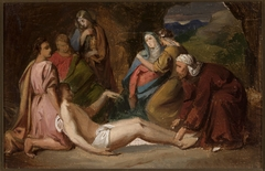 Entombment of Christ, sketch for a painting