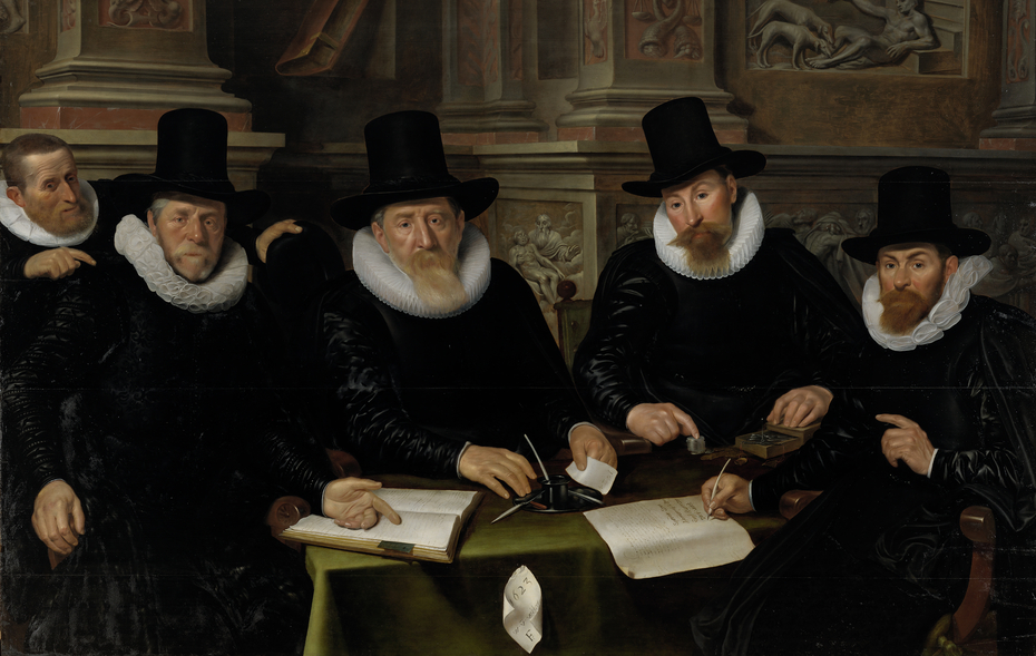 Four Regents and the 'House Father' of the Amsterdam Lepers' Asylum
