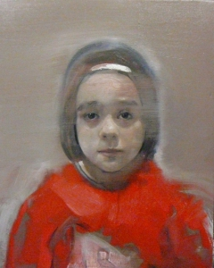 girl with red